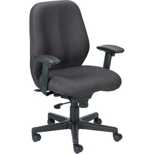 Eurotech Aviator Chair - 5-star Base - Black - Fabric - Yes - 1 Each