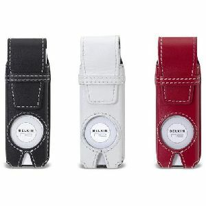 Belkin Classic Leather Case 3pk for iPod Shuffle - Top-loading - Leather - Black-White-Red
