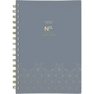 At-A-Glance WorkStyle 6x9 Academic Planner - Academic - Monthly, Weekly - 1 Year - July till June - 1 Month, 1 Week Double Page Layout - Twin Wire - Gold - Gray, Gold - 5.5