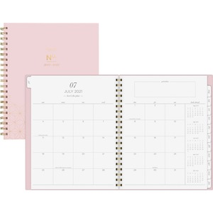 At-A-Glance WorkStyle Academic Weekly/Monthly Planner - Academic/Professional - Weekly, Monthly - 1 Year - July till June - 1 Week, 1 Month Double Page Layout - Twin Wire - Gold - Pink, Gold - 8.5