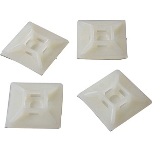 StarTech Self-adhesive Nylon Cable Tie Mounts - Pkg of 100 - Cable Tie Mount (HC102)