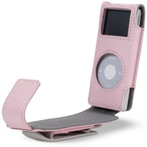 Belkin Flip Case for iPod nano - Clamshell - Leather - Pink