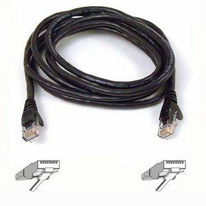 BELKIN A3L791B01M-BLK Category 5e Network Cable - 1 m - 1 x RJ-45 Male - 1 x RJ-45 Male