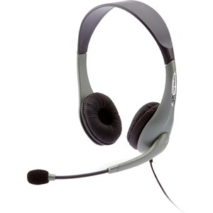 CYBER ACOUSTICS USB STEREO HEADST/MIC DIRECT NOISE CANCELING TECH SILVER MOQ24