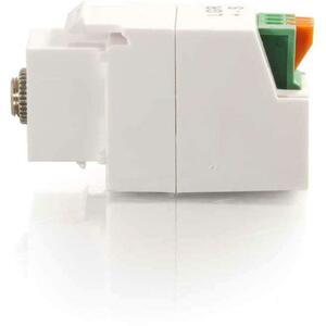 C2G 3.5mm 3-Conductor Keystone Adapter