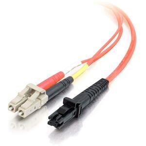5m LC-MTRJ 62.5/125 OM1 Duplex Multimode PVC Fiber Optic Cable | Orange