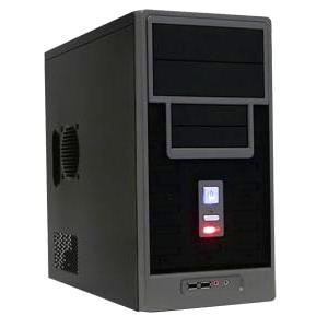 Apex TM-366-BK mATX Steel Mini Tower Case Black 2X5.25EXT 1X3.5INT 300W ATX 12V