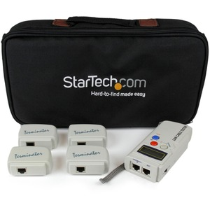 StarTech.com Professional RJ45 Network Cable Tester with 4 Remote Loopback Plugs - LAN Cab