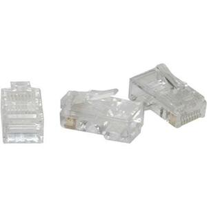 C2G RJ45 Cat5 8x8 Modular Plug for Flat Stranded Cable | 100pk