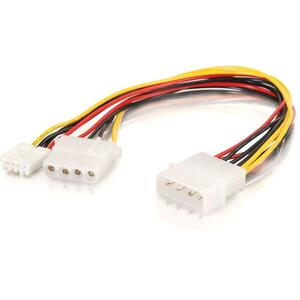 10in One 5-1/4in to One 3-1/2in with One 5-1/4in Internal Power Y-Cable