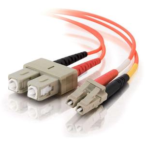 15m LC-SC 62.5/125 OM1 Duplex Multimode PVC Fiber Optic Cable   Orange