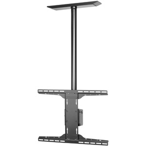 Peerless PLCM-UNL-CP Solid-Point Flat Panel Straight Column Ceiling Mount