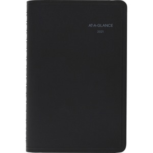 At-A-Glance Quicknotes Weekly/Monthly Appointment Book - Yes - Weekly, Monthly - 1 Year - January 2020 till December 2020 - 8:00 AM to 5:00 PM - 1 Month Single Page Layout 1 Week Double Page Layout - 4 7/8