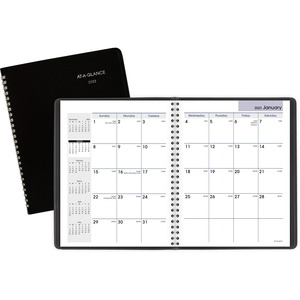 At-A-Glance DayMinder Monthly Planner - Julian Dates - Monthly - 1 Year - January 2022 till December 2022 - 1 Month Double Page Layout - 6 7/8