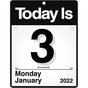 At-A-Glance Today Is Wall Calendar - Julian Dates - Daily - 1 Year - January 2022 till December 2022 - 1 Day Single Page Layout - 9 3/8