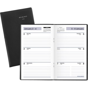 At-A-Glance DayMinder Weekly Pocket Planner - Julian Dates - Weekly - 1 Year - January 2022 till December 2022 - 1 Week Double Page Layout - 3 1/2