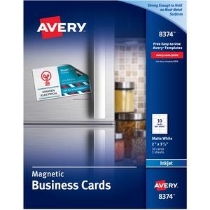 avery reg 8374 avery business card 2 x 3 1 2 matte 30