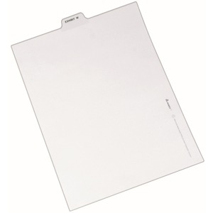 12396 avery individual legal exhibit dividers avery style 1