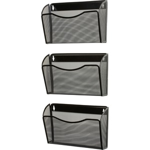 Rolodex Expressions Mesh 3-Pack Hanging Wall Files - 3 Pocket(s) - 33.5
