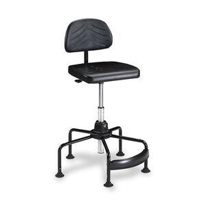 Safco TaskMaster Economy Industrial Chair - Black Polyurethane Seat - Black - 1 Each