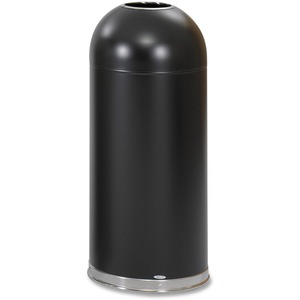Safco Open Top Dome Waste Receptacle - 15 gal Capacity - Round - 15