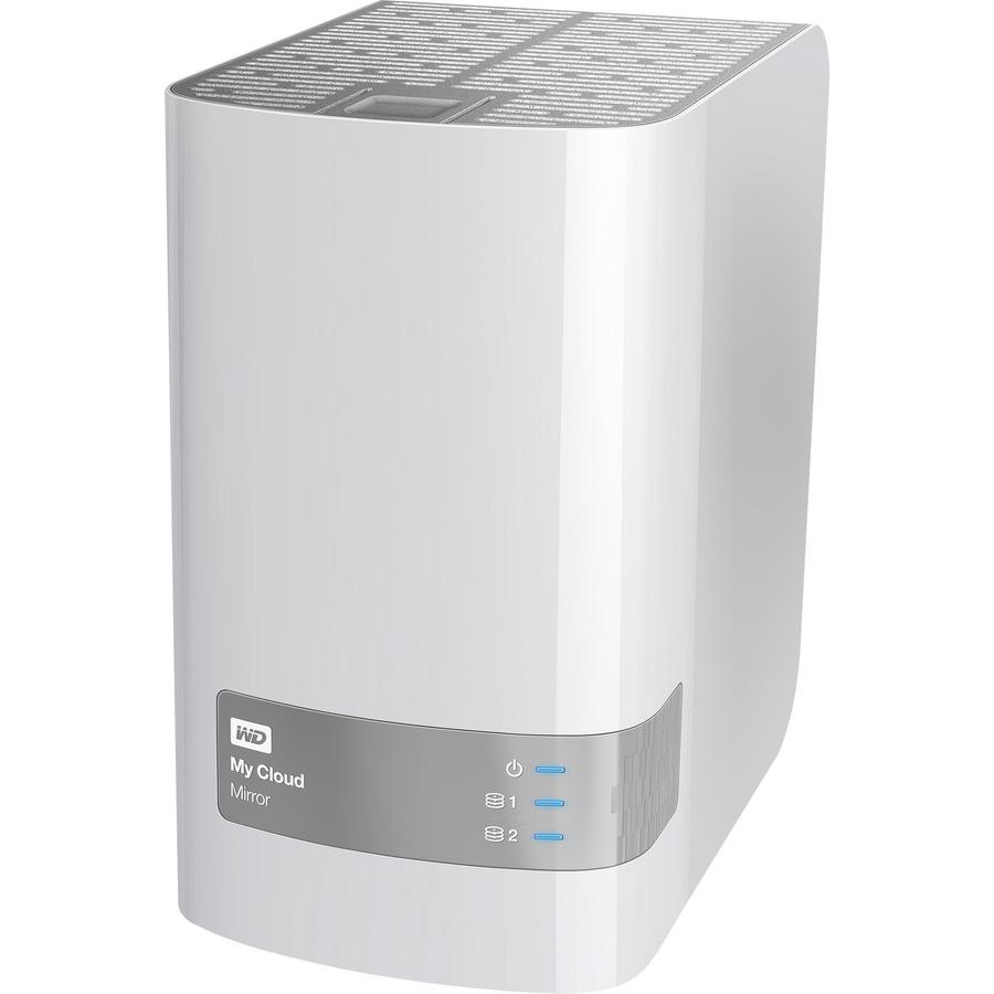 WD My Cloud Mirror WDBWVZ0060JWT-EESN 2 x Total Bays NAS Server - Desktop