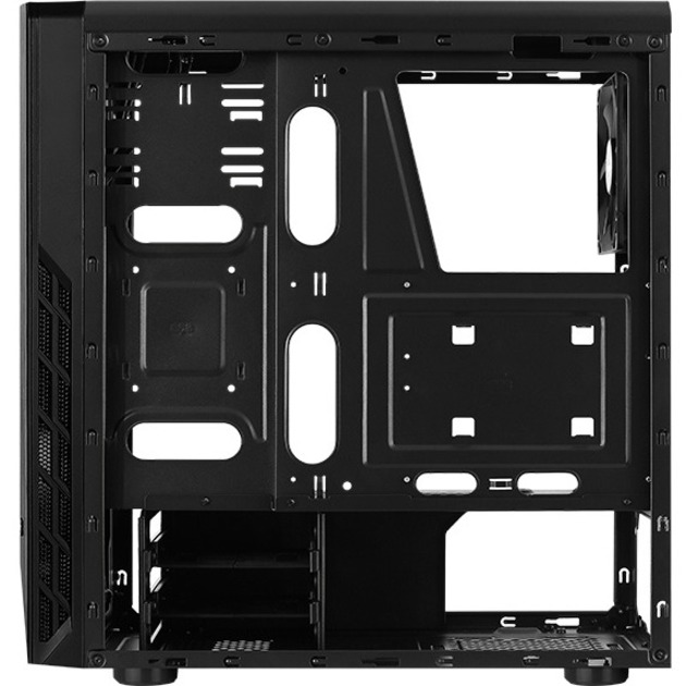 AeroCool Rift Computer Case - ATX, Mini ITX, Micro ATX Motherboard Supported - Mid-tower - SPCC, Acrylonitrile Butadiene Styrene ABS, Tempered Glass - Black - 4.80