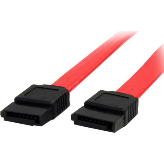 StarTech.com 18in SATA Serial ATA Cable - 1 x Female SATA - 1 x Female SATA - Red