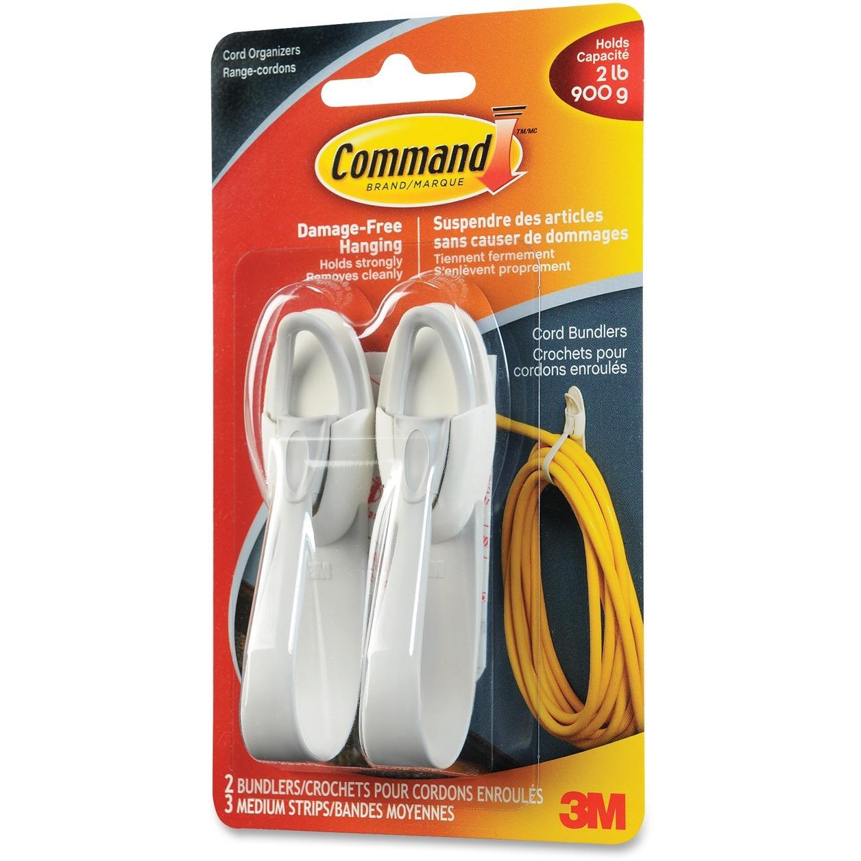 Cord Organizer 4 Packs Command  Cord Bundlers 2-Bundlers