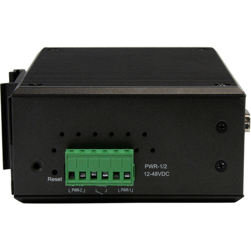 StarTech.com 4 Port Industrial RS-232/422/485 Serial to IP Ethernet Device Server - PoE-Powered - 2x 10/100Mbps Ports - 2 x Network RJ-45 - 4 x Serial Port - PoE P