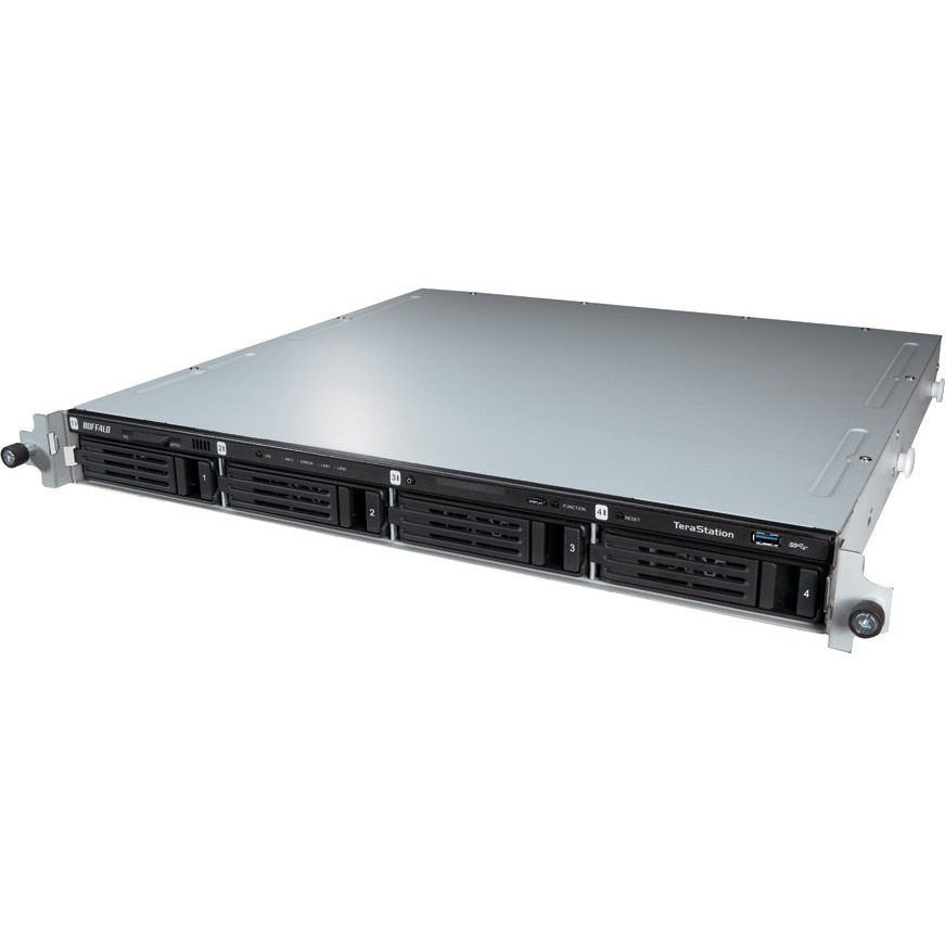 Buffalo TeraStation WS5400RRS2 4 x Total Bays NAS Server - Rack-mountable - 1 x Intel Atom D2700 Dual-core 2 Core 2.13 GHz - 8 TB HDD - 4 GB RAM DDR3 SDRAM - Seria