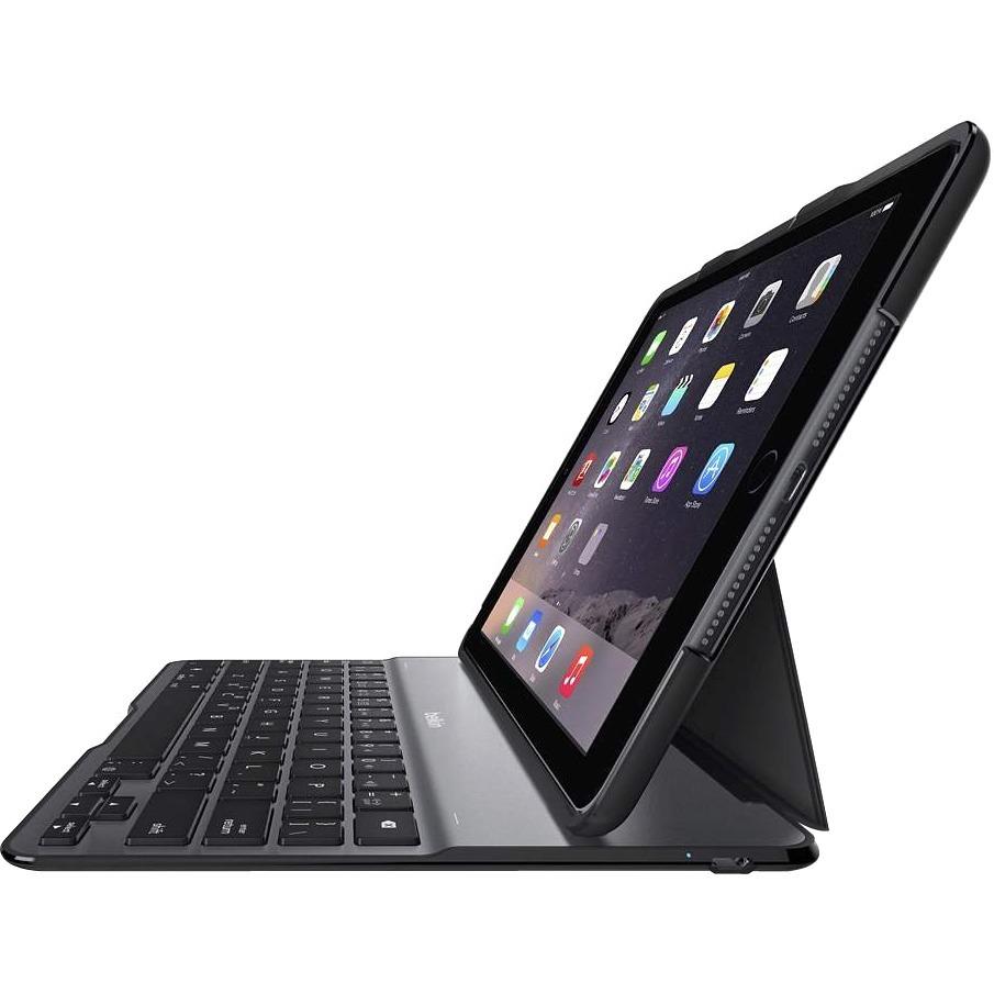 Belkin QODE Keyboard/Cover Case for iPad Air 2 - English UK Keyboard Localization
