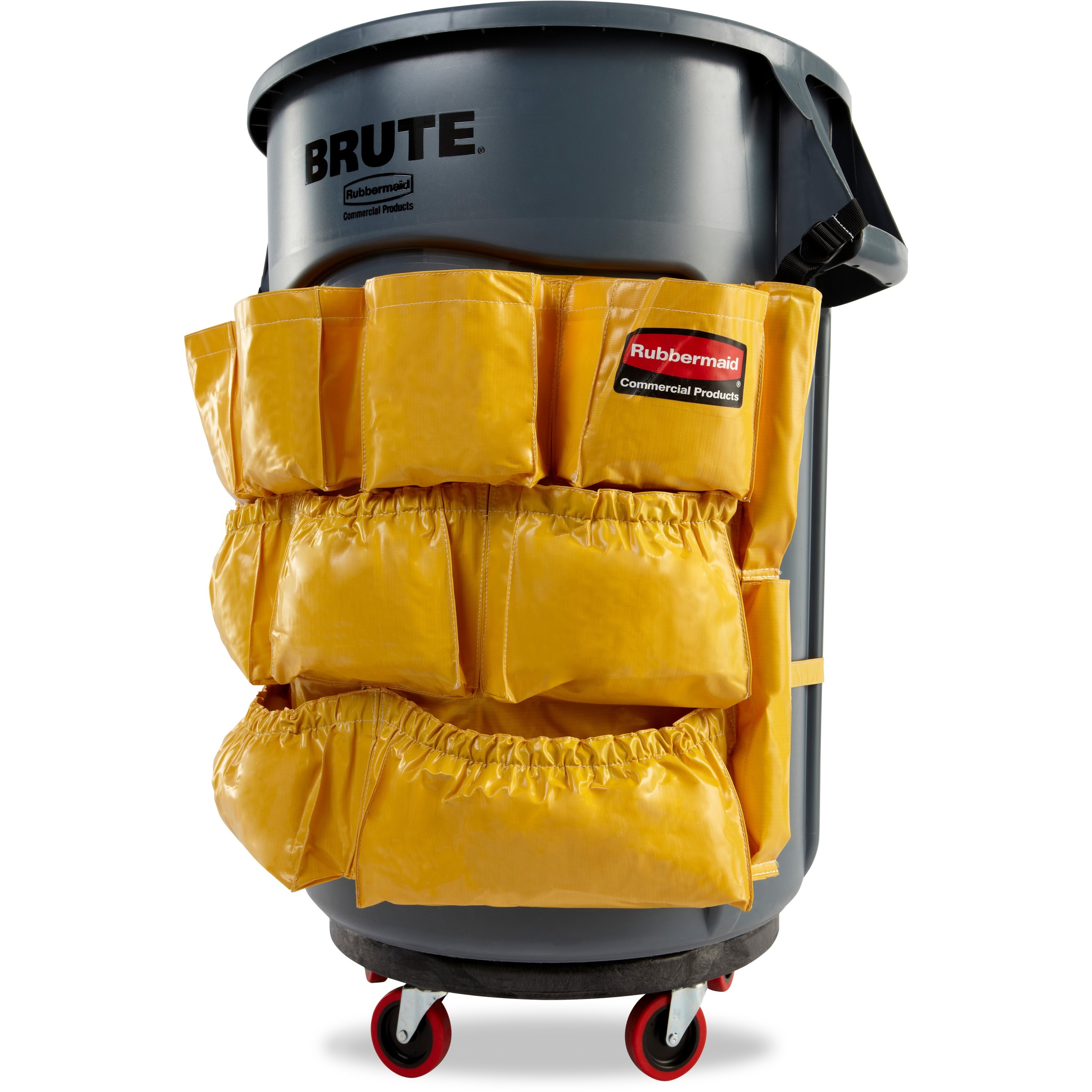 Rubbermaid Commercial Products RCP264200YW Caddy Bag Attaches to Brute Conta...