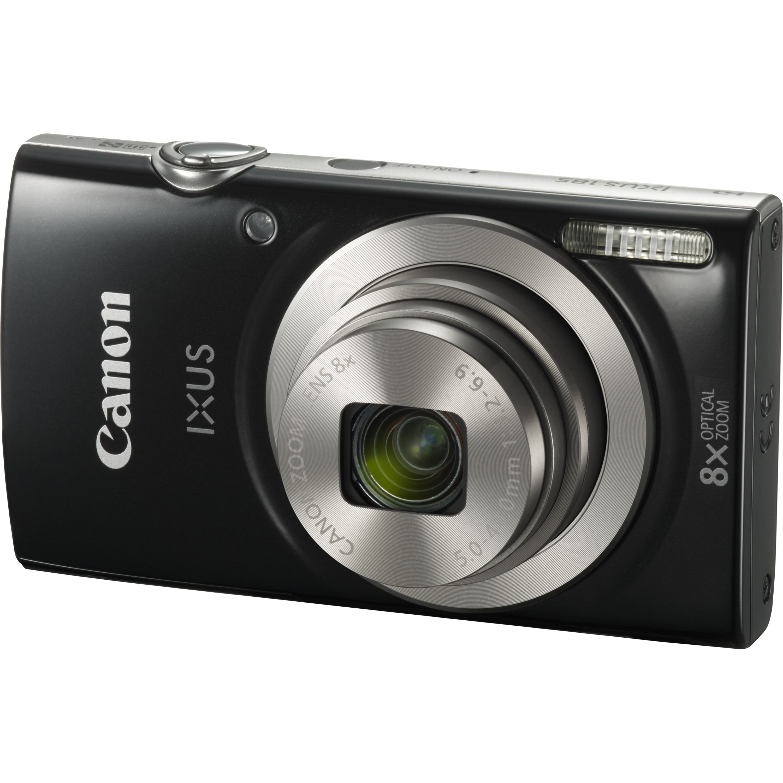 Canon IXUS 185 20 Megapixel Compact Camera - Black - 6.8 cm 2.7inch LCD - 16:9 - 8x Optical Zoom - 4x - Digital IS - TTL - 5152 x 3864 Image - 1280 x 720 Video - HD