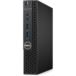 Dell OptiPlex 3000 3050 Desktop Computer - Intel Core i3 7th Gen i3-7100T 3.40 GHz - 4 GB DDR4 SDRAM - 128 GB SSD - Windows 10 Pro 64-bit - Micro PC - Wireless LAN