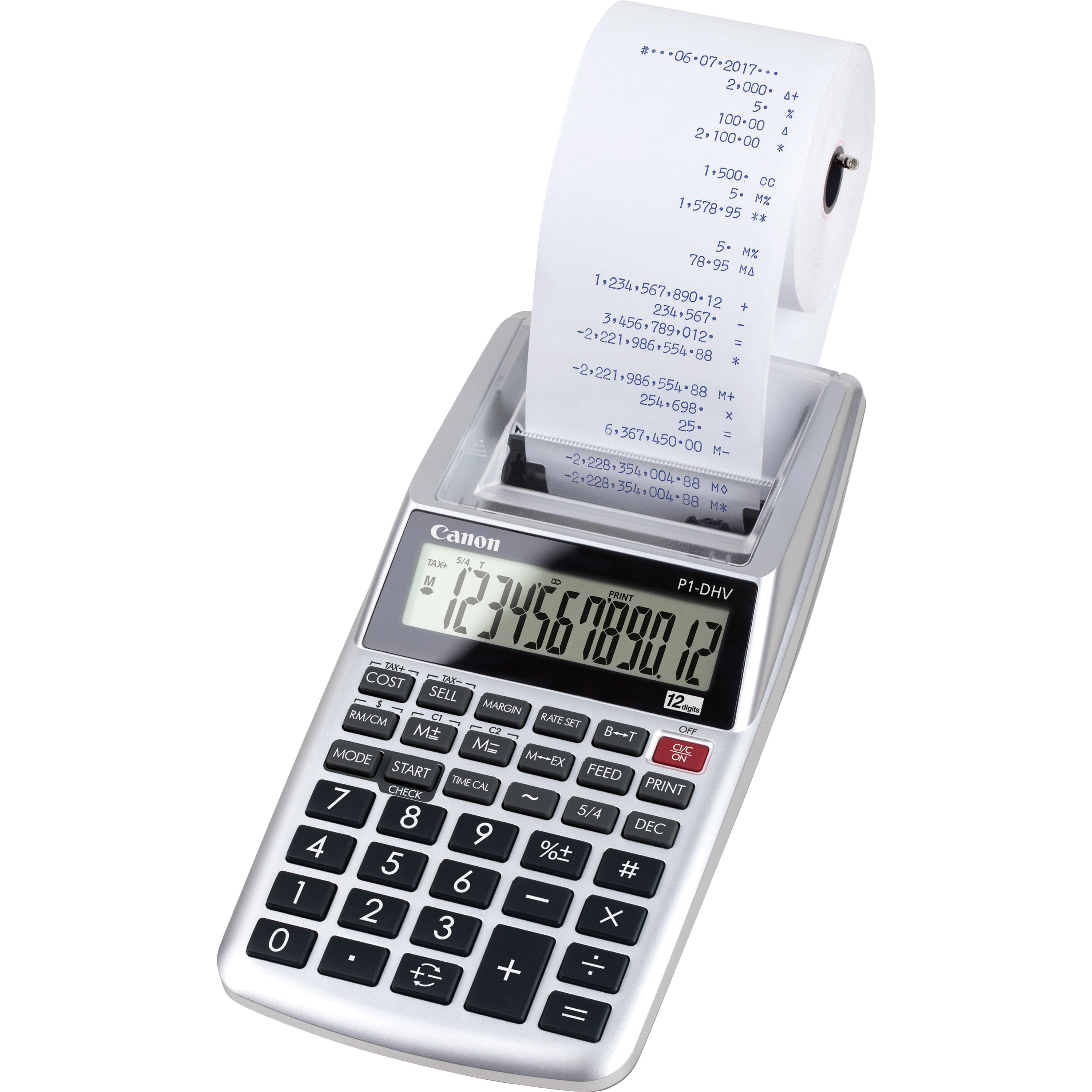 Canon P1dhv3 Compact Printing Calculator Cnmp1dhv3