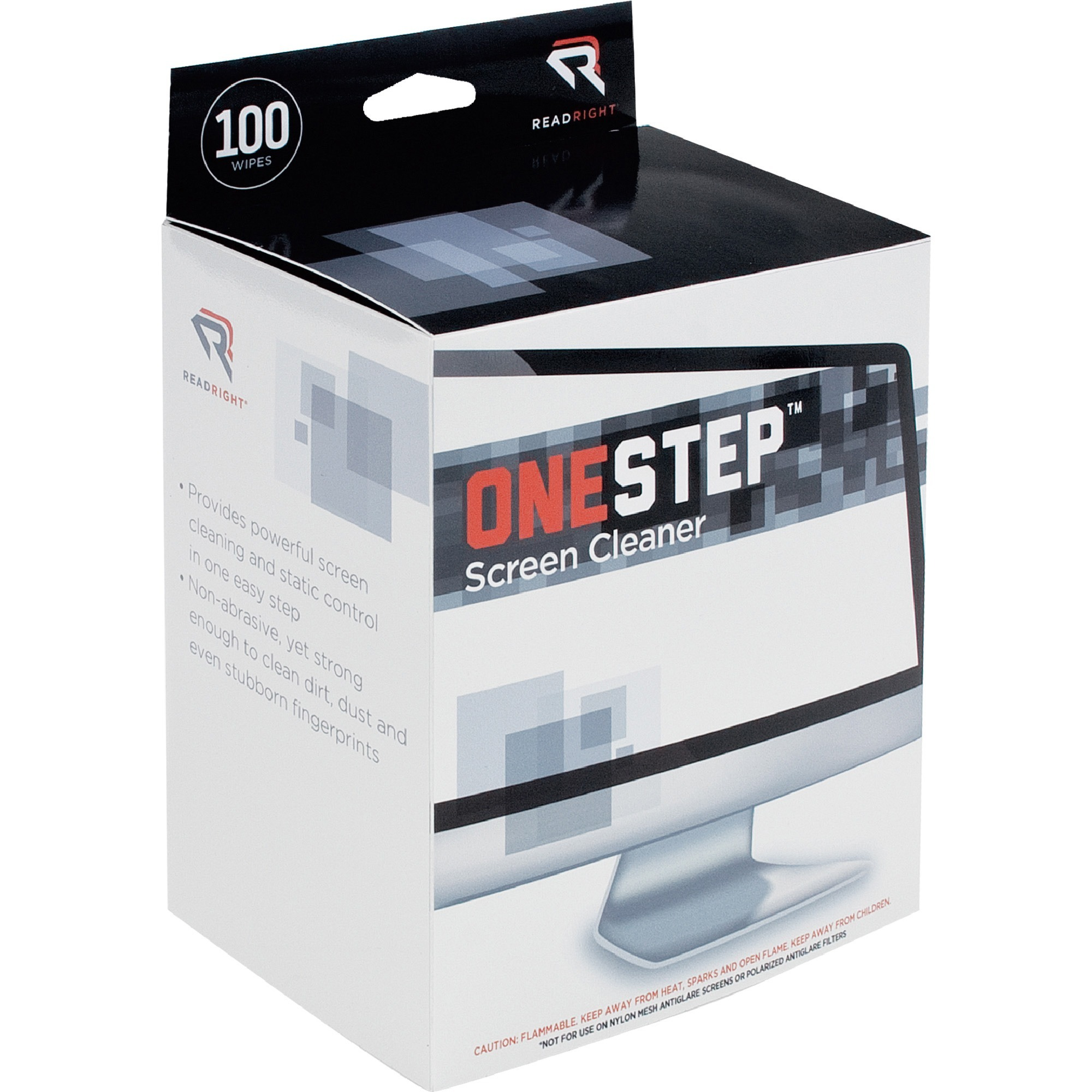 Advantus Read Right One Step Screen Cleaning Wipes For