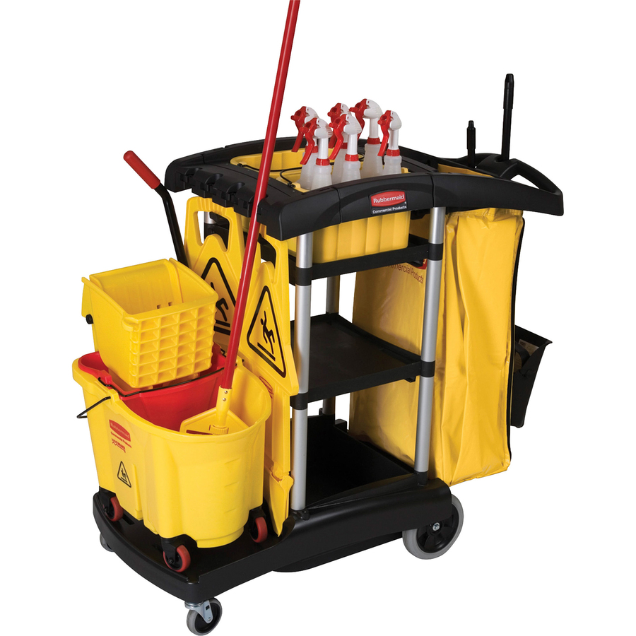Rubbermaid High Capacity Cleaning Cart - Zerbee