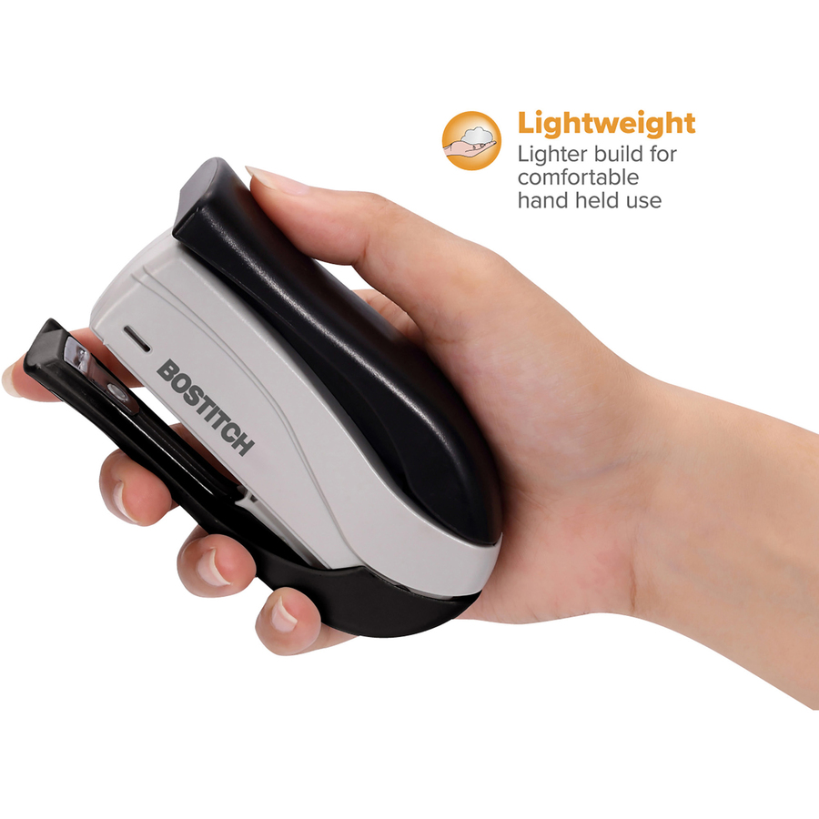Bostitch Spring Powered 15 Handheld Compact Stapler Black