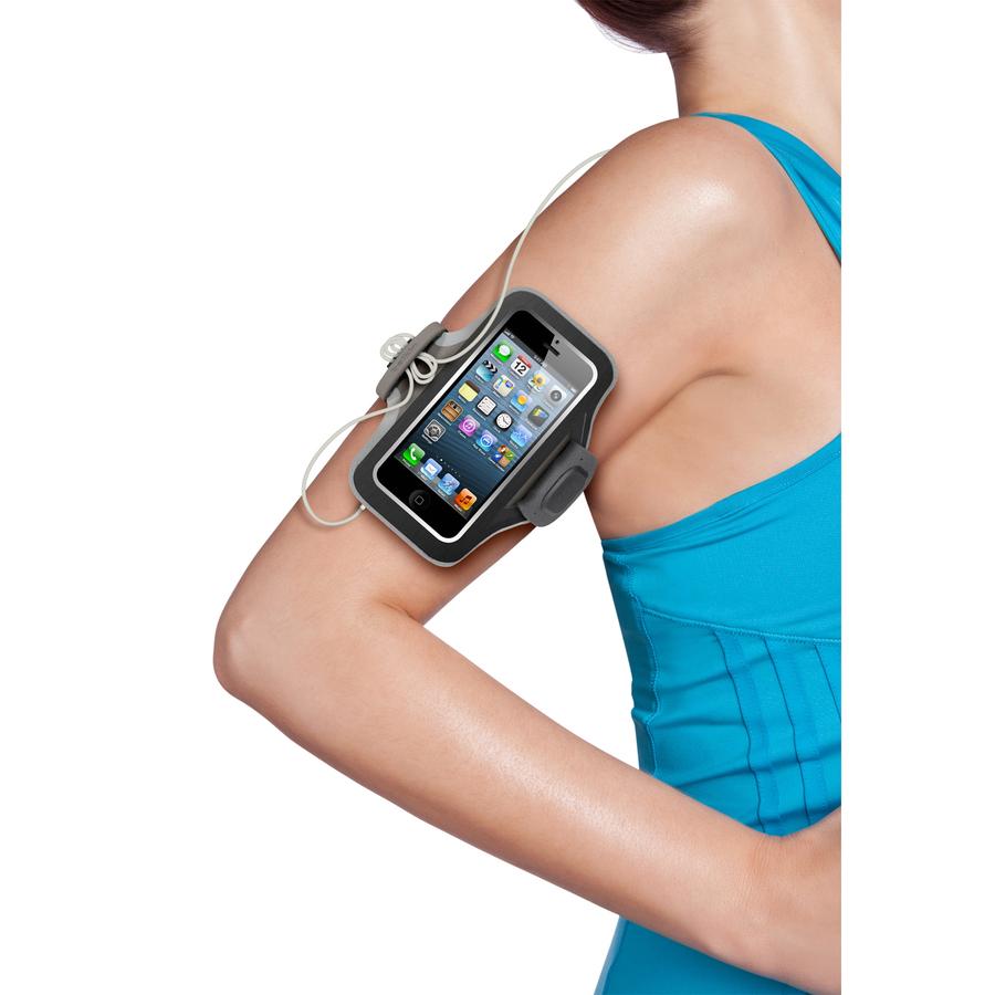 Belkin Carrying Case Armband for iPhone - Black, Grey - Neoprene - Armband
