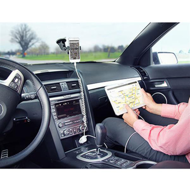 StarTech.com Dual Port Car Charger with Apple 8-pin Lightning Connector and USB 2.0 Port
