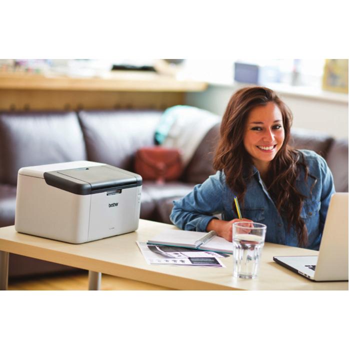 Brother HL-1210W Laser Printer - Monochrome - 2400 x 600 dpi Print - Plain Paper Print - Desktop