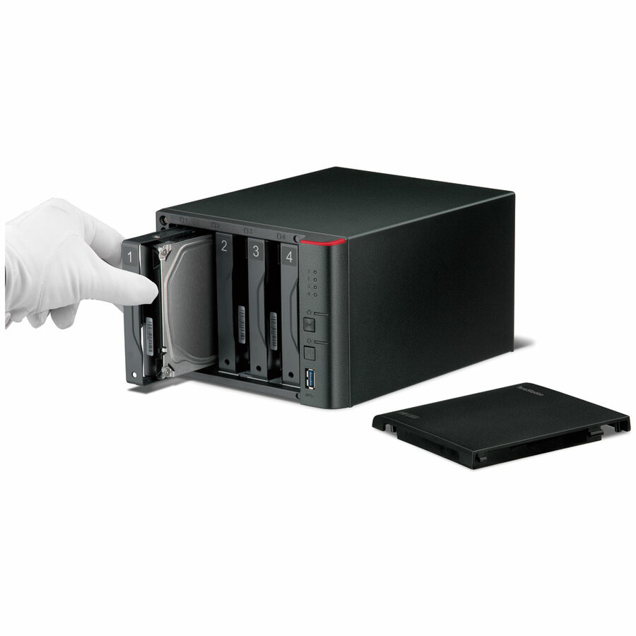 Buffalo TeraStation TS1400D0804 4 x Total Bays NAS Server - Marvell ARMADA 370 Dual-core 2 Core 1.20 GHz - 8 TB HDD 4 x 2 TB - 512 MB RAM DDR3 SDRAM - Serial ATA