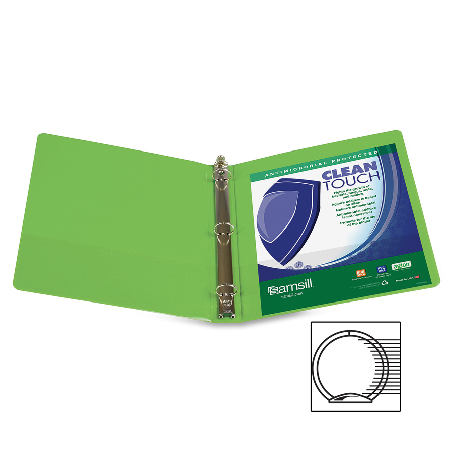 lime green office accessories. Samsill Lime Green Clean Touch Antimicrobial View Binder Lime Green Office Accessories