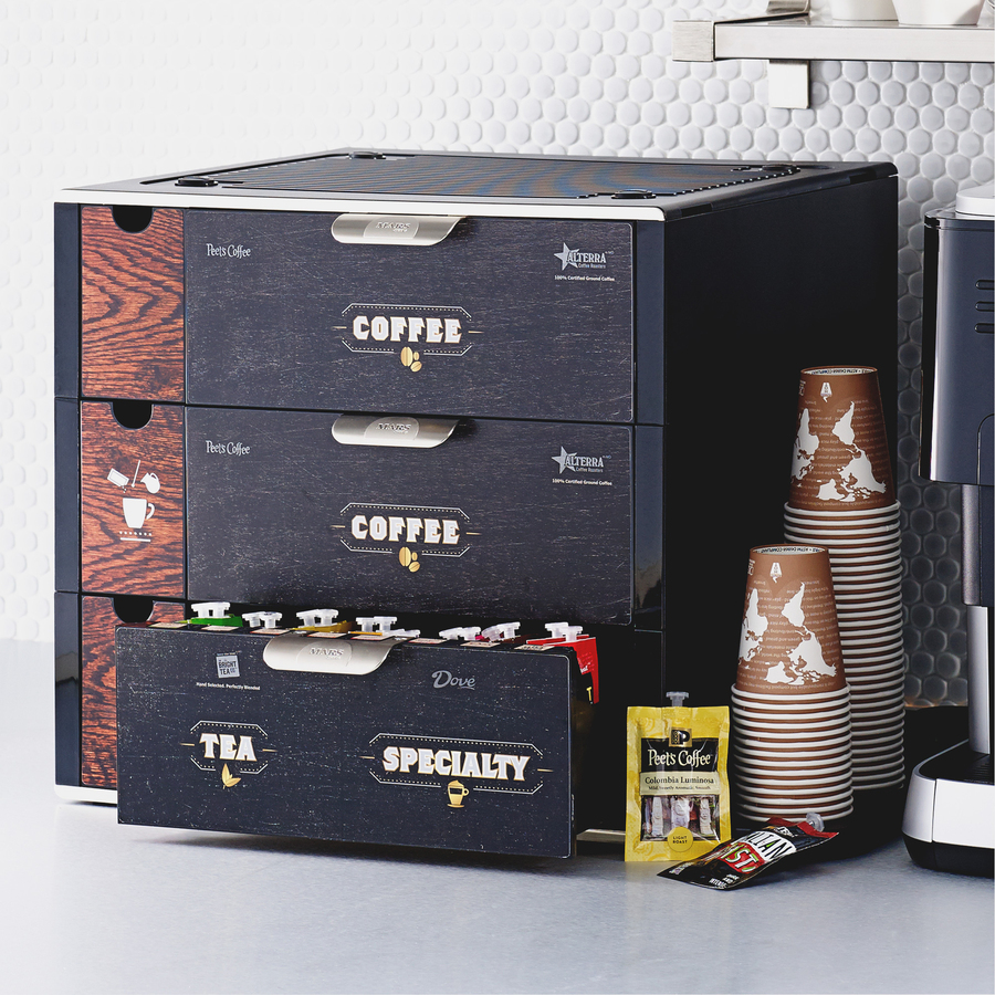 Counter Mars Drinks Coffee Shop Merchandiser Plastic Rubber Black 1each