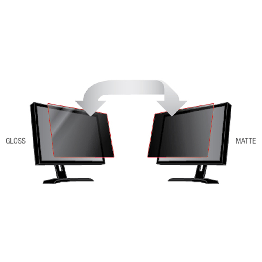 3M Black, Matte Privacy Screen Filter for 21.5inch Monitor