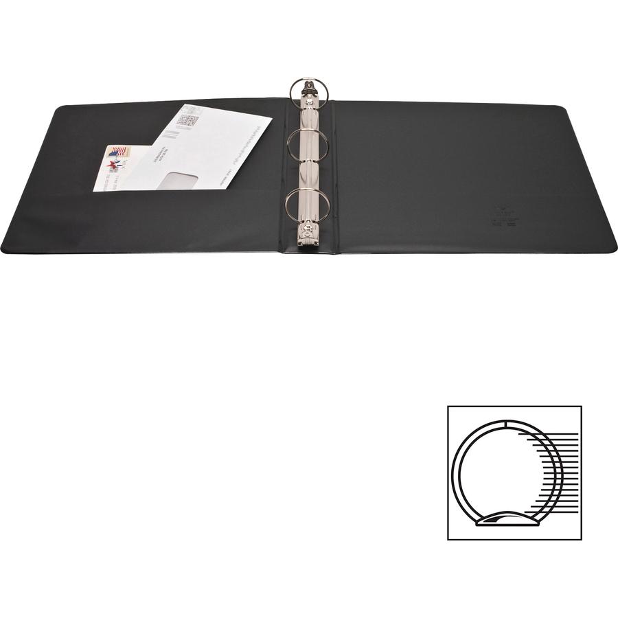 business source standard view round ring binders 1 1 2 binder