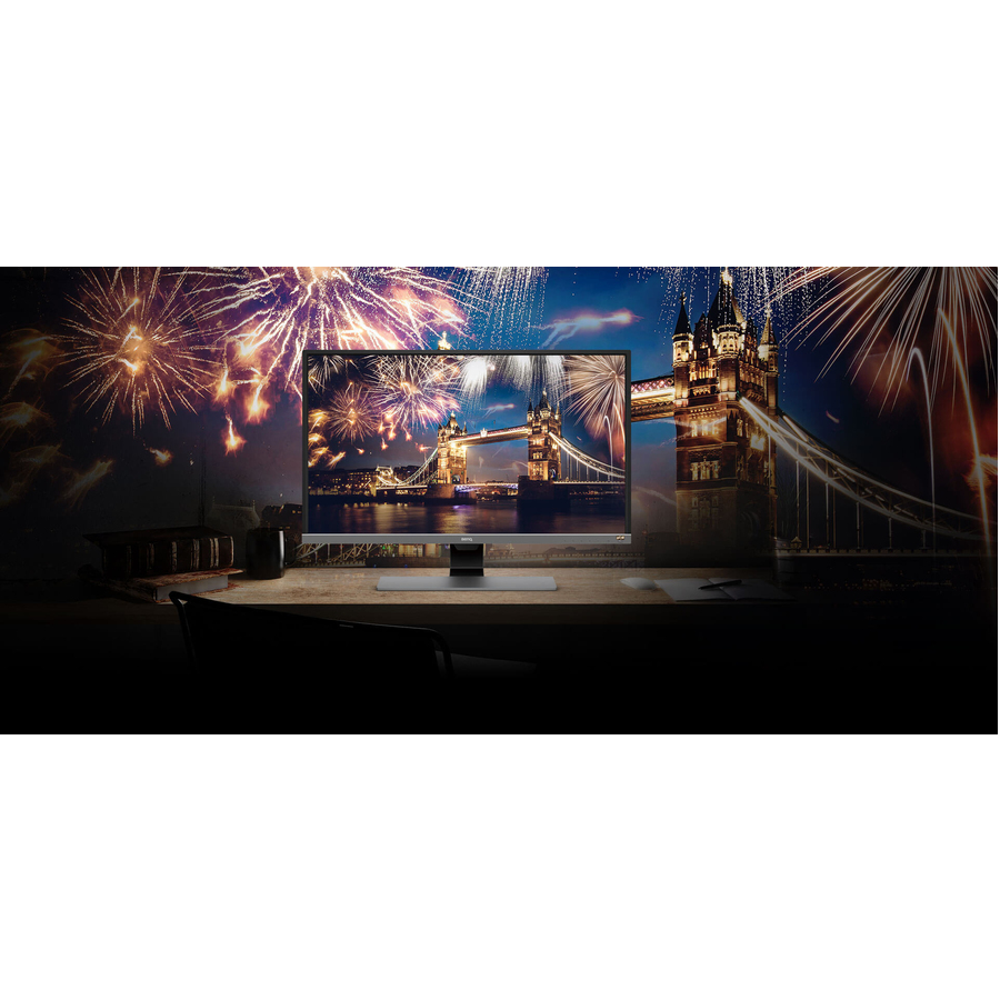 BenQ EW3270U 80 cm 31.5inch LED LCD Monitor - 16:9 - 4 ms GTG - 3840 x 2160 - 1.07 Billion Colors - 300 cd/mAnd#178; - 12,000,000:1 - 4K UHD - Speakers - HDMI - Display