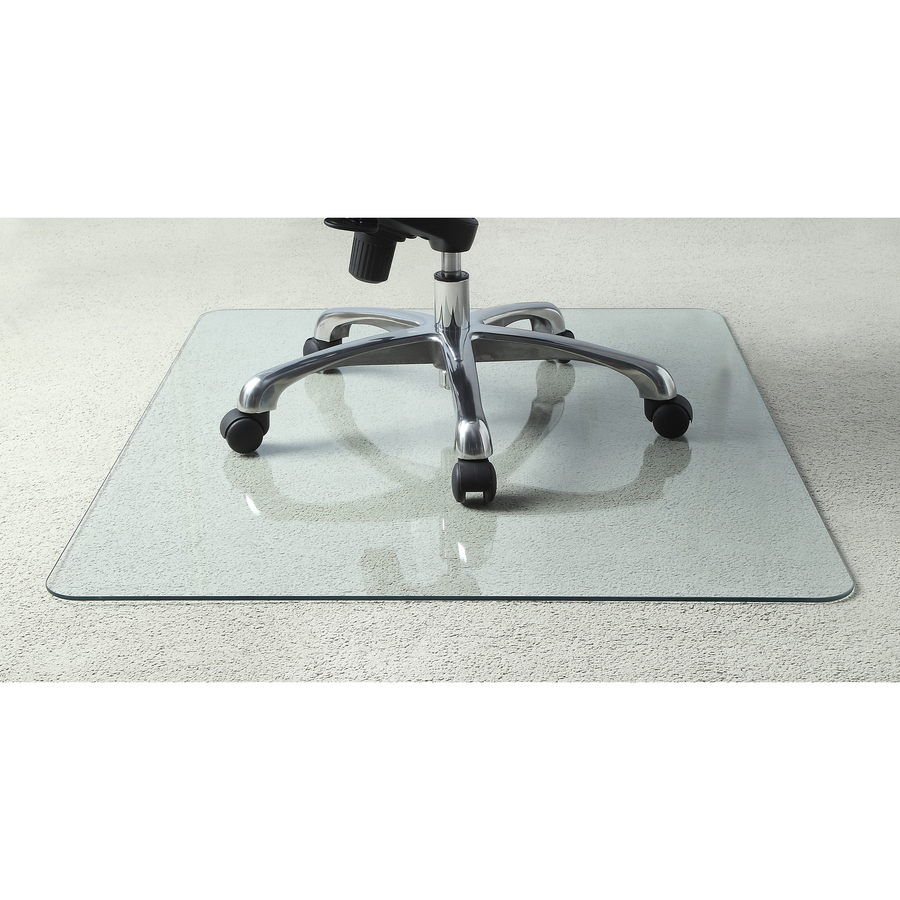 Llr82835 Lorell Tempered Glass Chairmat Floor 60