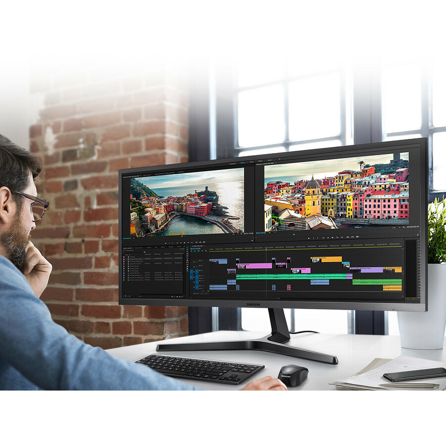 Samsung S34J550WQU 34.1inch LED LCD Monitor - 21:9 - 4 ms GTG